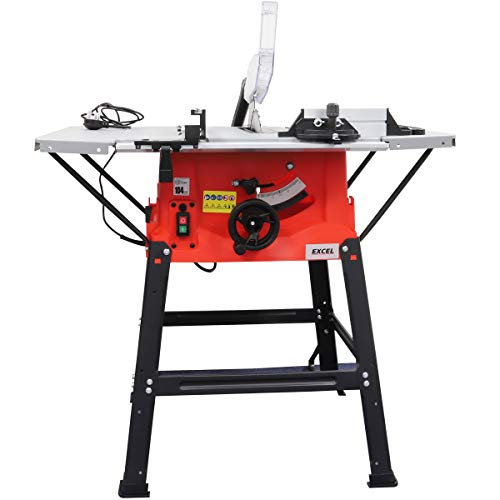 Excel 250mm Table Saw 240V with Legstand Side Extensions & Blade 1800W
