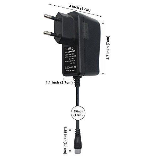 Outtag 10W 5V2A Netzteil Ladegerät Universal Adapterstecker 7xStecker für Router/WLAN/Mobiltelefon/Radios/Lautsprecher/Tablets/Kamera/Spielekonsolen/Stromversorgung Haushaltsgeräte/Reiseadapter