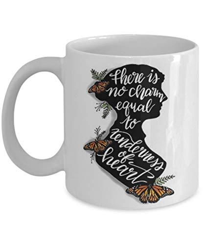 N\A No Hay Encanto Igual Jane Austen Literary - Taza de café, Taza de té, Divertido, Cita, Idea de Regalo para él o Ella, Mujeres y Madre, Día del Padre, Hermana, Hno.