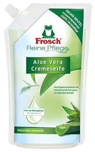 Frosch Reine Pflege Aloe Vera Cremeseife, Flüssigseife für empfindliche Haut, Nachfüllbeutel, 500 ml, 1er Pack (1 x 500 ml)