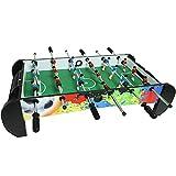 Mesa de futbolín de tamaño mini de 38 pulgadas portátil de juego de fútbol con 2 bolas de futbol, accesorios completos