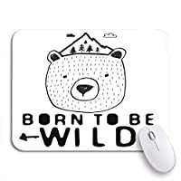 ROSECNY 可愛いマウスパッド 野生になるために生まれた少年とベアマウンテン木こり滑り止めラバーバッキングコンピューターマウスパッドノートブックマウスマット