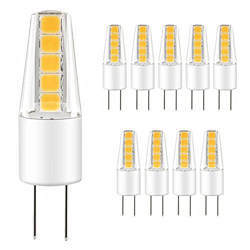 JZlamp G4 2W COB Bombilla LED Luz LED AC 12V Equivalente 25W 200 lúmenes 3000K 6000K Blanco cálido (6pcs),Cool White,2w