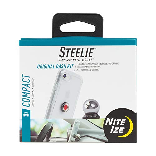 Nite Ize Original Steelie Dash Mount Kit - Magnetic Car Dash Mount for Smartphones (Packaging may vary)
