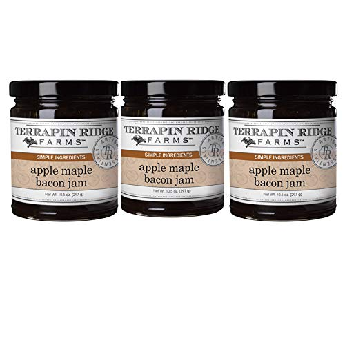 Terrapin Ridge Farms Apple Maple Bacon Jam 10.5 OZ Pack of 3(Apple Maple Bacon, 10.5 OZ (Pack of 3))