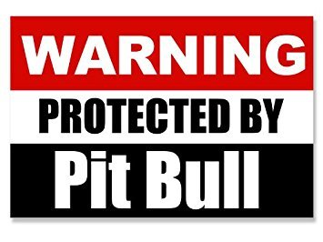 MAGNET Warning Protected by Pit Bull Magnet(dog decal) 3 x 5 inch