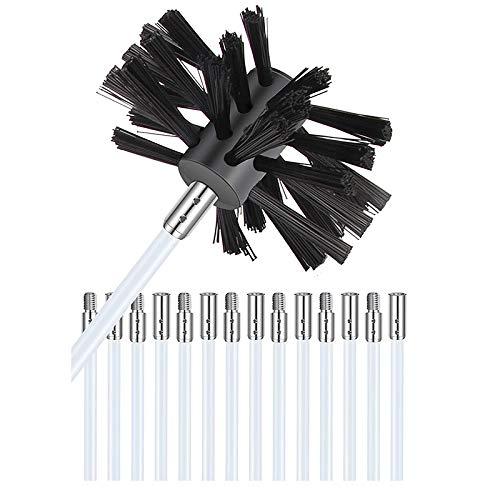 Deesen Accesorio de Limpieza con Aspiradora de VentilacióN de La Secadora Quitapelusas para VentilacióN de La Secadora Kit de Cepillo de Limpieza Incluido 12 Varillas de Nailon Flexibles