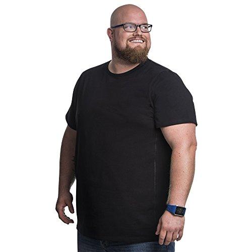 4XL Camiseta clásica Cuello Redondo T-Shirt para Hombre, Moda Camisetas Originales, Tallas Extra Grande XL-B - 8XL-B | Alca Classic Tshirt Crew Neck tee (Cintura 138 a 145 cm)