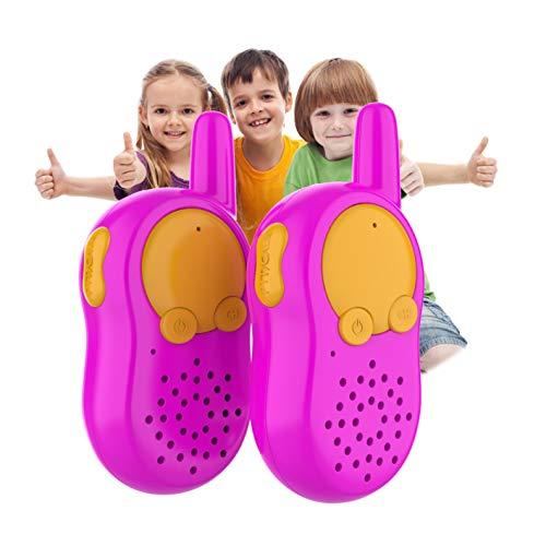 Rosa Walkie Talkie Kinder Funkgeräte Set, Woki Toki Kinder Wiederaufladbar, Mädchen Spiele ab 3 4 5 6 Jahren Kinder Geburtstags Geschenke