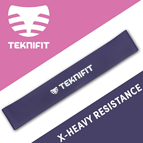 Teknifit Exercise Band  Purple  Heavy Resistance Mini Loop Squat Band  Ideal for Home Workout  2024 Ibs Resistance
