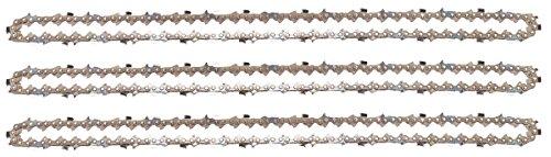"3 tallox Sägeketten 3/8\"" 1,6 mm 72 TG 50 cm Schwert Vollmeißel kompatibel mit Stihl Motorsägen"
