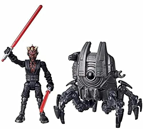 STAR WARS Mission Fleet Gear Class Darth Maul Sith Probe Pursuit 2.5-Inch-Scale Figure and Vehicle, Toys for Kids Ages 4 and Up