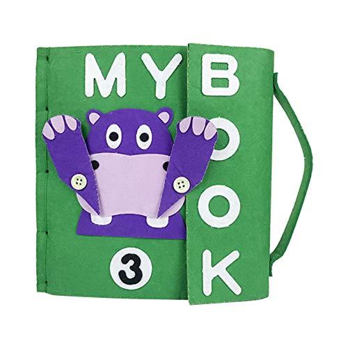 POHOVE My Quiet Books Livre interactif en feutre Montessori Quiet Books pour tout-petits - Livre d'apprentissage sensoriel - Mon premier livre en tissu doux - Jouet pour enfant