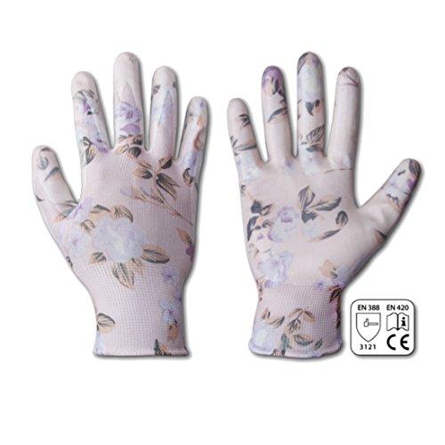 Bradas rwnf8 12 paires de gants pour femme Taille 8 à fleurs, rose, 7 x 3 x 3 cm