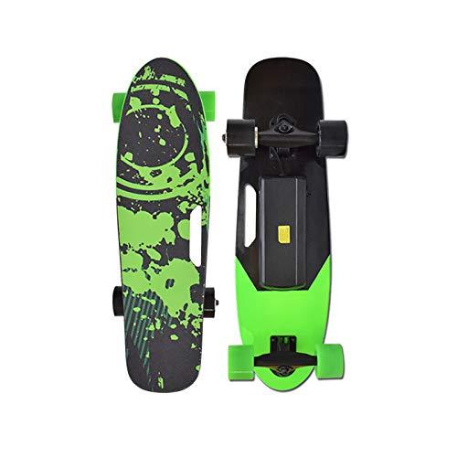 EODPOT Monopatín Eléctrico Mini Skateboard,a 20 Km/h De Velocidad Máxima,300W Motor,7 Capas...