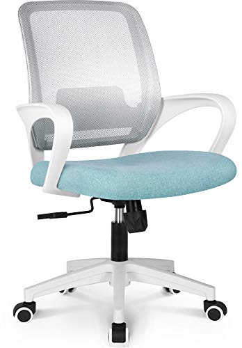 NEO CHAIR Office Chair Ergonomic Desk Chair Mesh Computer Chair Lumbar Support Modern Executive Adjustable Rolling Swivel Chair Comfortable Mid Black Task Home Office Chair, Pastel Mint