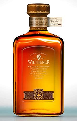 Wilthener Jubiläumsedition, X.O.-Qualität, 25 Jahre gereift, auf 2000 Stück limitiert, in nummerierter Flasche 40% vol.(1 x 0.5 l)