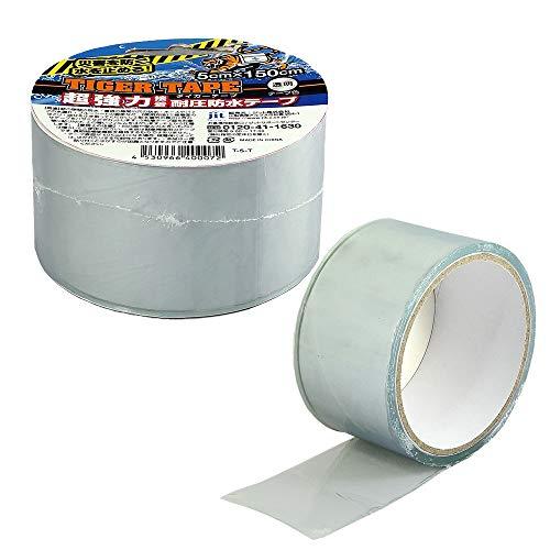 タイガーテープ 5cmX150cm 透明 T-5-T 黒 T-5-B 超強力 接着 耐圧防水テープ 災害用テープ (透明)