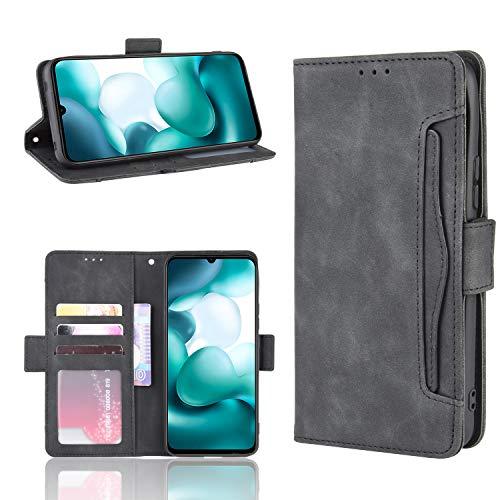 LODROC Cover Xiaomi Mi 10T / Lite Zoom Flip Cover Custodia Protettiva Caso Libro in Pelle PU con Portafoglio, Funzione Supporto, Chiusura Magnetica per Xiaomi Mi 10T/10T PRO - LOBYU0200939 Nero