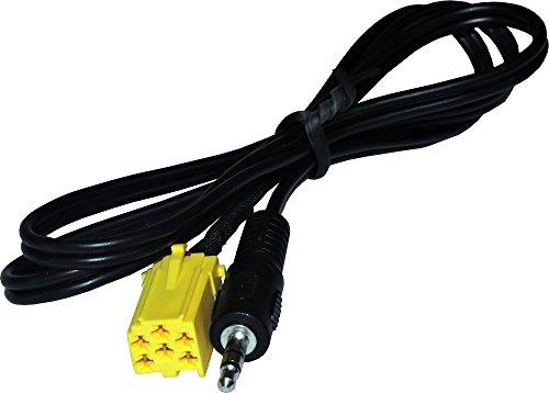 Câble entrée auxiliaire avec interface pour alfa romeo 147 – 159 – GT GTV – Brera Spider MiTo à partir de 2007, fiat 500 – Bravo – Croma – Idée – Multiple – Panda – Grand Point – seize – Stilo à partir de 2007 ; LANCIA DELTA – Y – Musa Ypsilon Phedra – à partir de 2007 ; SMART FOR TWO – Roadster – For Four à partir de 2007.