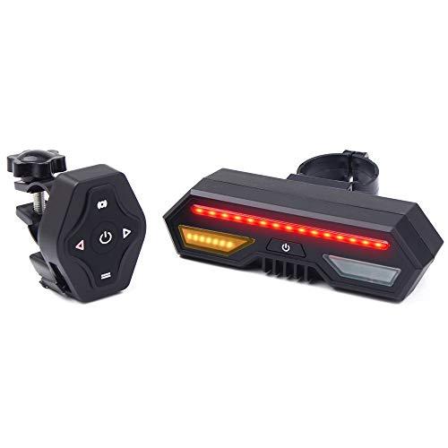 Lepeuxi Control Remoto inalámbrico LED Lámpara Trasera Cargas USB Luces de Bicicleta Lámpara de Curvas Luz Trasera de Bicicleta Luz de Bicicleta Luz de Bicicleta Advertencia Luces traseras de