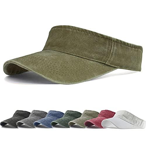 HH HOFNEN Sports Sun Visor Hats Cotton Twill Ball Adjustable Sun Caps for Men Women