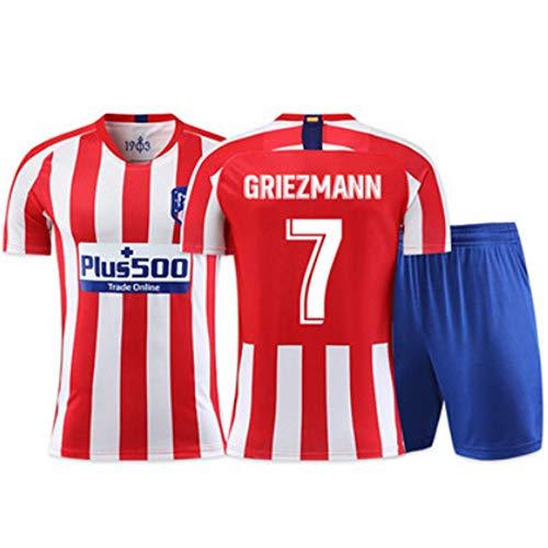 XH Fútbol de los Hombres Jersey -Escapacitación de Entrenamiento Anteine Griezmann # 7, Todos los tamaños Niños y Adultos (Color : C, Size : Adults-M)