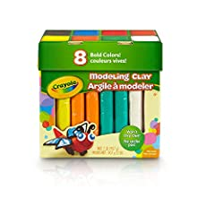 NON-DRYING MODELING CLAY: It's the lightweight, spongy modeling material that sticks to itself—not your hands. Doesn't dry out, so you can shape and reshape! Choose from 8 classic colors in 4 ounce mylar packages. 3D ART: Create anything from simple ...