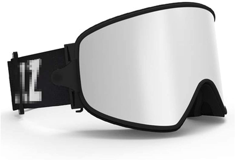 YJWOZ Ski Goggles Anti-fog Glasses Magnet Lens Myopia Night Vision Two-in-one Sports Eye Predection Equipment Ski goggles (color   B)