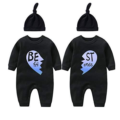 culbutomind Born Together Friends Forever - Mono para bebé, diseño de gemelos recién nacidos
