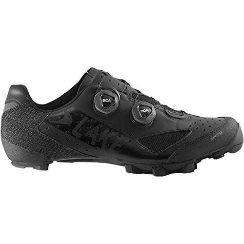 Lake MX238 XC Wide Mountain Bike Shoe - Men's Black/Black, 43.0