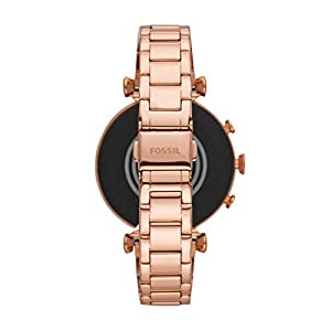 Fossil Women's Gen 4 Sloane HR Heart Rate Stainless Steel Touchscreen Smartwatch, Color: Rose Gold (FTW6040)