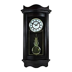 Bedford 2 Clocks Clock Collection 25 Inch Chiming Pendulum Wall Clock Includes Plus Free Coffee Clock