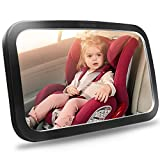 Shynerk Baby Car Mirror, Safety Car Seat Mirror for Rear Facing Infant with Wide Crystal Clear View, Shatterproof, Fully Assembled, Crash Tested and Certified by Shynerk