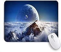 KAPANOU マウスパッド、雲、山、惑星 おしゃれ 耐久性が良い 滑り止めゴム底 ゲーミングなど適用 マウス 用ノートブックコンピュータマウスマット