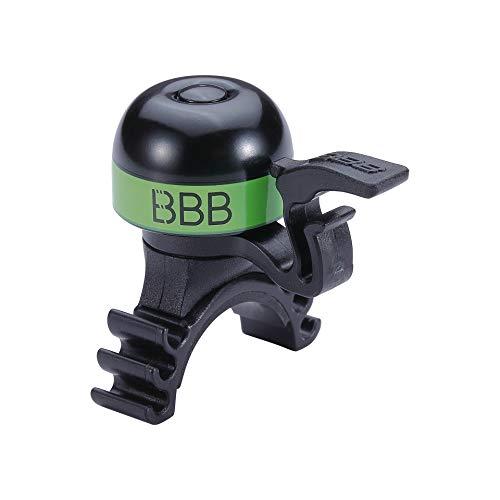 BBB Cycling Unisex-Adult MiniFit BBB-16 Cycling Bike Fahrradklingel Mini Lenker Sound Bell für Renn-und Rennräder Grün, Einheitsgröße