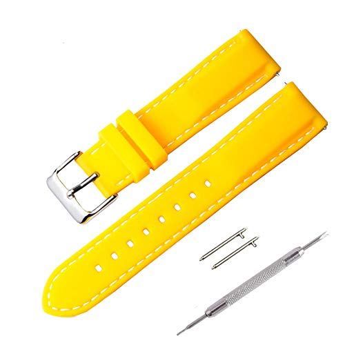 Cinturini Orologio, Fmway Ricambio di Cinturino di Silicone per Uomo e Donna, Caucciù Sgancio Rapido per Orologi e Smartwatch,18mm, 20mm, 22mm, 24mm, Vari Colori