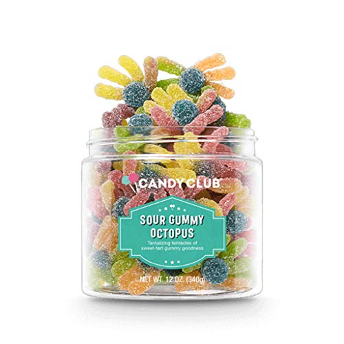 Candy Club, Sour Gummy Octopus, Fruit Gummy Candies - 12oz