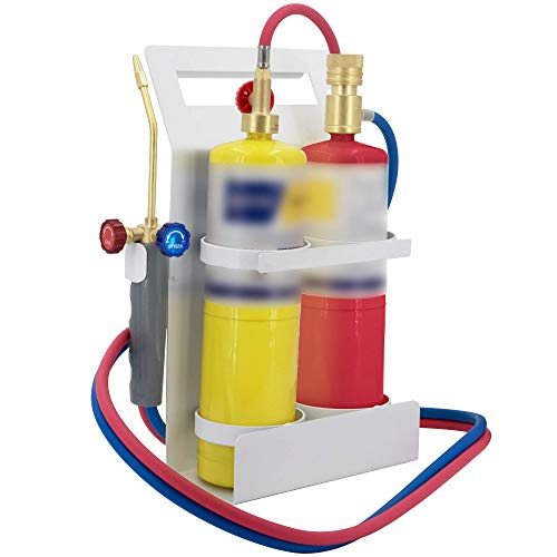 Oxypropane Torches Fuel By Oxygen And Propane(Or MAPP) With Tank Support, Glasses And Flint Spark Lighter
