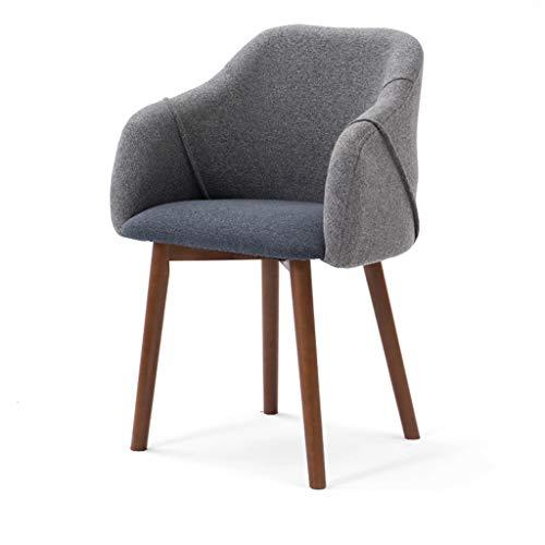 LJZslhei Stuhl Massivholz Stuhl Studie Schreibtisch Stuhl Dressing Stuhl Rückenlehne Einfache Moderne Esszimmerstuhl Grau (Color : Brown)