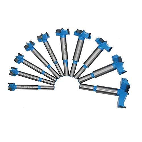 GEEKEN 10Pc 15-50mm Forstner Bit Auger Drill Bits Set Woodworking Hole Saw Wooden Wood Cutter