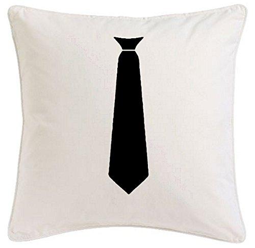 Bandenmarkt kussensloop 40x40cm stropdas kantoor kantoor kantoor pak overhemd vrijgezellenfeest plezier van microvezel ideaal geschenk en smaakvolle decoratie voor elke woonkamer of slaapkamer