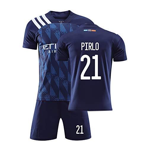 Herren Pirlo 21 Lampard 8 David Villa 7 Damen Fußballtrikot Sommer New York Heimspiel Training Trikot Polyester Anpassbare Shorts Set-home21-S