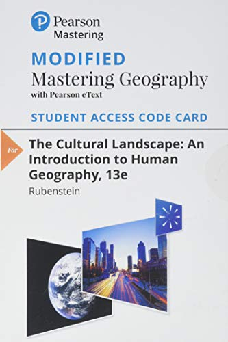 Modified Mastering Geography with Pearson eText -- Standalone Access Card -- for The Cultural Landscape: An Introduction