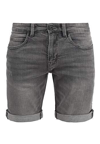 Indicode Quentin Herren Jeans Shorts Kurze Denim Hose Mit Destroyed-Optik Aus Stretch-Material Regular Fit, Größe:XL, Farbe:Light Grey (901)