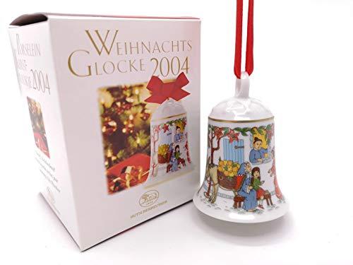 Hutschenreuther Weihnachtsglocke 2004, Porzellanglocke, Weihnachten, Baumschmuck, Baumanhänger, Anhänger