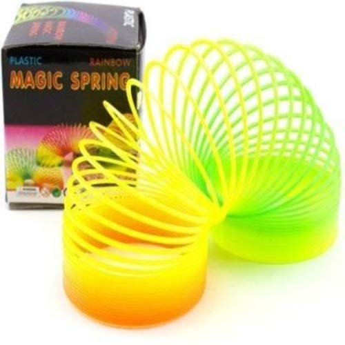 Shivsoft Magic Spring Rainbow Bouncy Expandable Slinky Toys (Pack of 2)