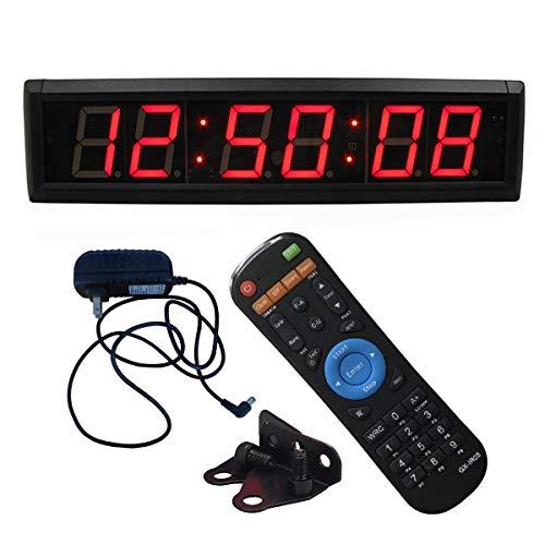 Ledgital Countdown Timer Cock, Digital Wall Clock for Conference/Church/Classroom/Gym with EMOM Timer, Large Wall Mount Digial Wall Clock with 12/24 Hour Display, w/ IR Remote