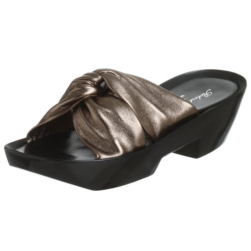 Robert Clergerie Women's Mousses,Pewter Nappa,10.5 B