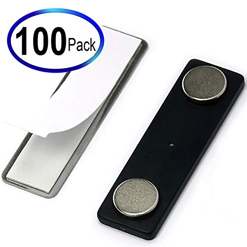 CMS Magnetics Name Badge Magnets BM-2Mag-4 Made of Neodymium Magnets Set of 100
